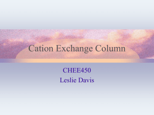 Design cation exchange column