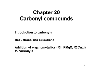 Chapter 20 reactions of carbonyls