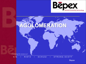 Bepex Agglomeration Powerpoint Presentation