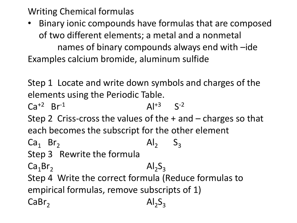 Ufeboqak Chemistry Criss Cross Practice Binary Ionic Compounds