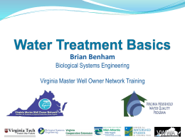 Water Treatment - Virginia Household Water Quality Program