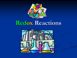 Redox Reactions - ThinkChemistry