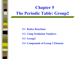 Redox Group Trends
