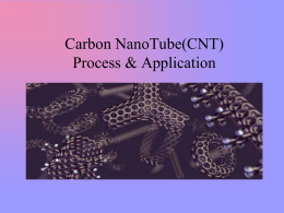 Carbon NanoTube(CNT) Process & Application by: Anita