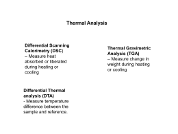 Differential Thermal analysis (DTA)