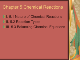 Chapter 5 Chemical Reactions