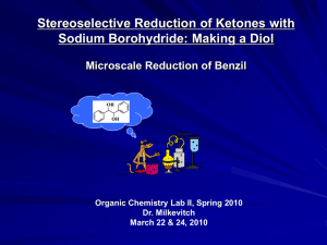 Stereoselective Reduction of Ketones with Sodium Borohydride