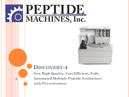 Discovery-4 - Peptide Machines, Inc.