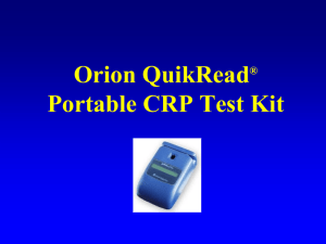 Orion QuikRead CRP