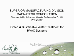 Superior Water Presentation - Advanced Material Technologies Pty Ltd