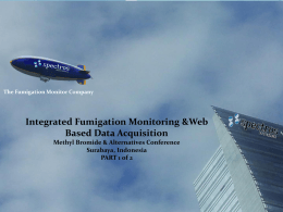 Integrated Fumigation Monitoring and Web Based Data Acquisition