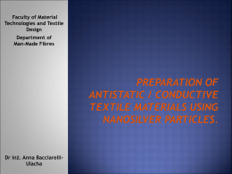 Preparation of antistatic materials using nanoAg particles.