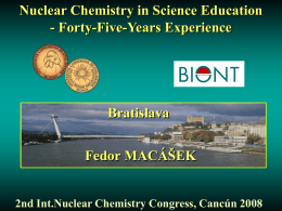 Teaching chemistry in nuclear era