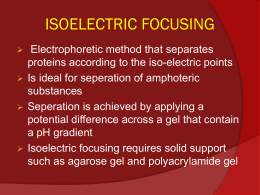 Isoelectric focusing