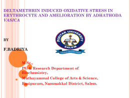 DELTAMETHRIN INDUCED OXIDATIVE STRESS IN