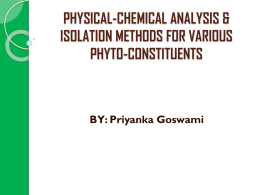 chemical analysis of phyto-constituents