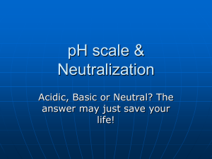pH scale & Neutralization