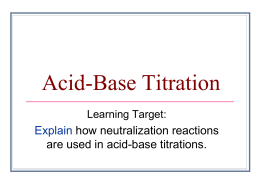 Acid-Base Titration