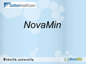 NovaMin and Gingivitis