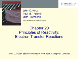 ELECTROCHEMISTRY Chapter 21