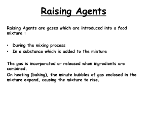 Chemical Raising Agents