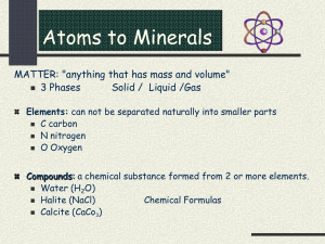 Minerals and Formation