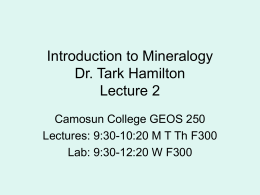 Mineralogy Lecture 02
