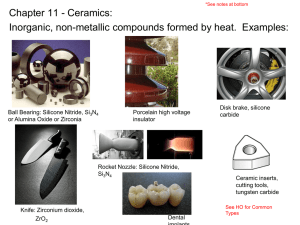 Ceramics (Chapter 11 – reference)