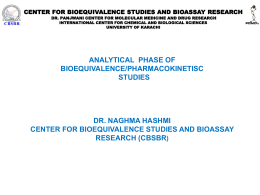 center for bioequivalence studies and bioassay research