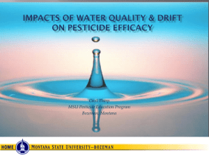 waterquality - Montana Pesticide Safety Education Program