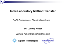 Inter-Laboratory Method Transfer