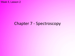 Spectroscopy Powerpoint