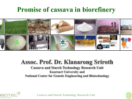 Cassava and Starch Technology Research Unit