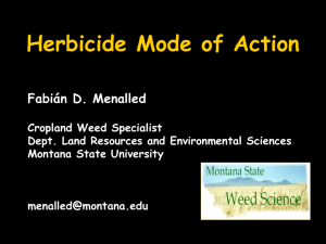 Herbicide Mode of Action - Montana IPM Center
