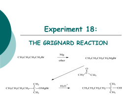grignard reaction lab report Summary report dyes & grignard reactions gentian (crystal) violet - malachite green  for the grignard reaction, attach: lab notebook pages.