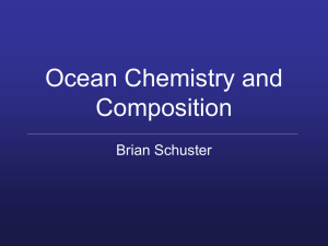 Ocean Chemistry and Composition