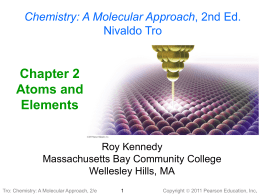 Chapter 2 Tro Chemistry - Highline Community College