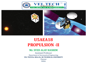 Propulsion - Vel Tech Dr.RR & Dr.SR Technical University