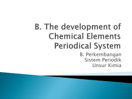 The Development of Chemical Element Periodical System
