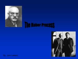 1. Who developed the Haber Process? When? What country