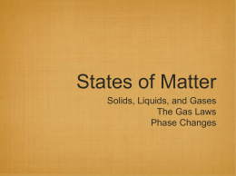 States of Matter:Gas Laws