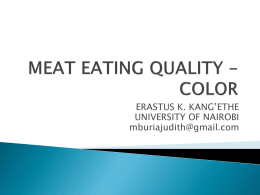 MEAT EATING QUALITY - COLOR