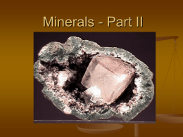 Minerals Part II