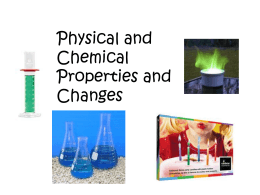 Physical/chemical changes ppt