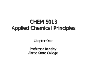 Lecture Two – Introduction to Chemistry