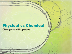 Physical VS Chemical Changes PPT