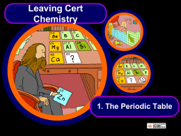 1 – The Periodic Table - Science at St. Dominics