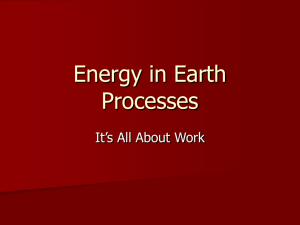 File energy in earth processes