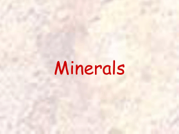 Minerals Powerpoint - Troup 6