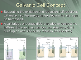 Galvanic Cell Concept